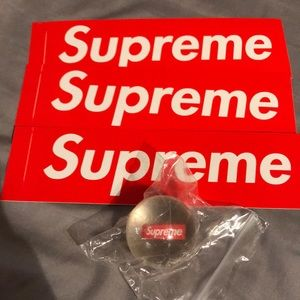 Supreme Bouncey Ball & Stickers